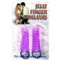 Jelly Finger Stimulation 2er Set lila